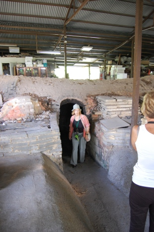 This is the inactive kiln that we were allowed to enter.